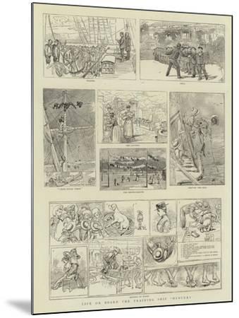 Life on Board the Training Ship Mercury--Mounted Giclee Print
