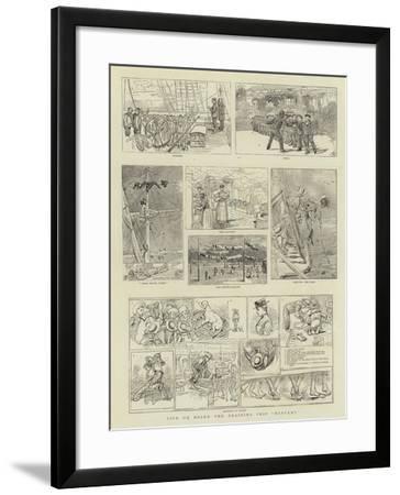 Life on Board the Training Ship Mercury--Framed Giclee Print