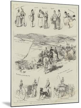 The Volunteer Manoeuvres Near Portsmouth--Mounted Giclee Print