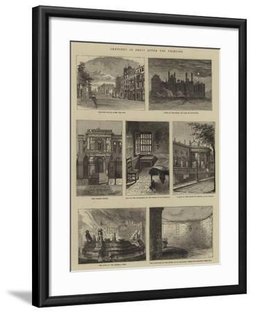 Sketches in Paris after the Fighting--Framed Giclee Print