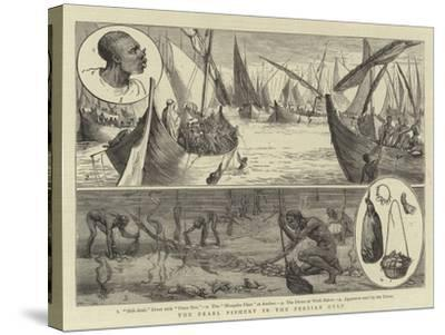 The Pearl Fishery in the Persian Gulf--Stretched Canvas Print
