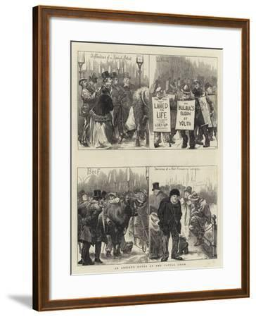 An Artist's Notes at the Cattle Show--Framed Giclee Print