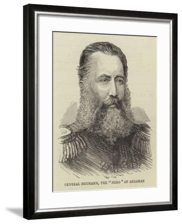 General Heymann, the Hero of Ardahan--Framed Giclee Print