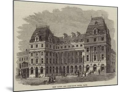New Baths and Pump-Room Hotel, Bath--Mounted Giclee Print