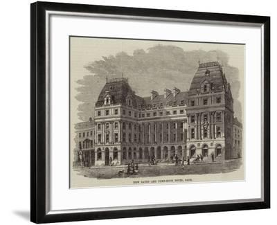 New Baths and Pump-Room Hotel, Bath--Framed Giclee Print