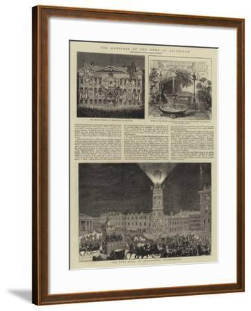 The Marriage of the Duke of Edinburgh--Framed Giclee Print