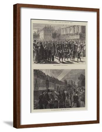 Sketches from Paris by Balloon Post--Framed Giclee Print