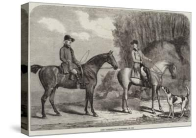 Lord Yarborough's Huntsmen, in 1792--Stretched Canvas Print