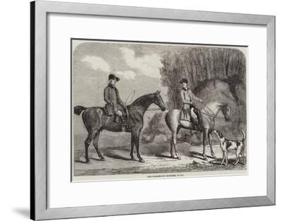 Lord Yarborough's Huntsmen, in 1792--Framed Giclee Print