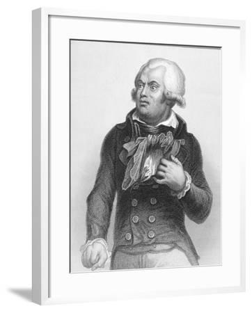 Portrait of Georges Danton (1759-94)--Framed Giclee Print