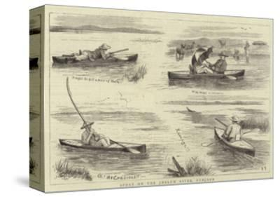 Sport on the Jhelum River, Punjaub--Stretched Canvas Print