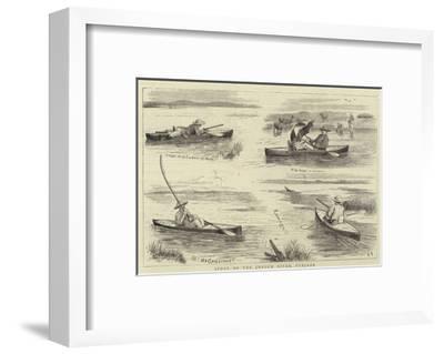 Sport on the Jhelum River, Punjaub--Framed Giclee Print