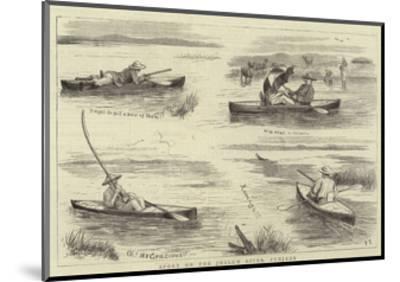 Sport on the Jhelum River, Punjaub--Mounted Giclee Print