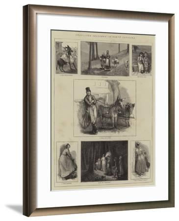 Character Sketches in North Carolina--Framed Giclee Print