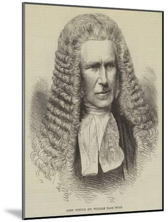 Lord Justice Sir William Page Wood--Mounted Giclee Print
