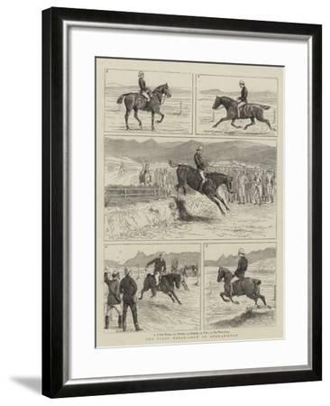The First Horse-Show in Afghanistan--Framed Giclee Print