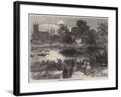 Hampton Races, the Ferry at Moulsey--Framed Giclee Print