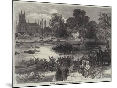 Hampton Races, the Ferry at Moulsey--Mounted Giclee Print