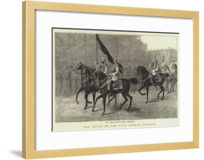 The Death of the Late German Emperor--Framed Giclee Print