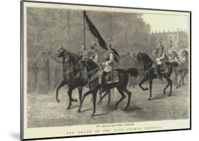 The Death of the Late German Emperor--Mounted Giclee Print