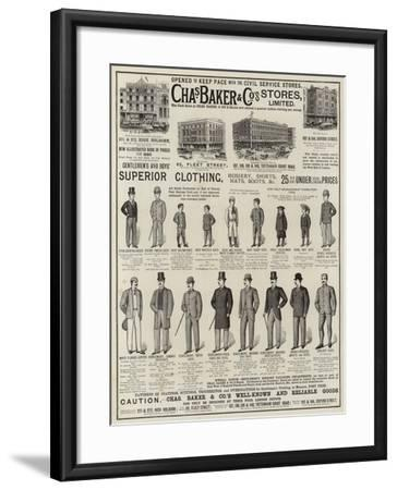 Advertisement, Charles Baker and Co--Framed Giclee Print