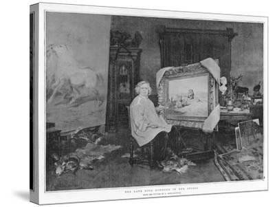 The Late Rosa Bonheur in Her Studio--Stretched Canvas Print