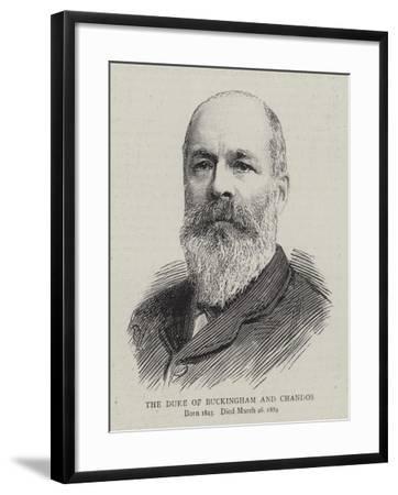 The Duke of Buckingham and Chandos--Framed Giclee Print