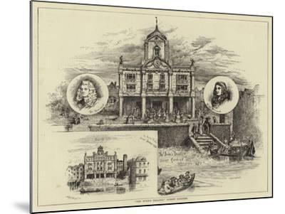 The Duke's Theatre, Dorset Gardens--Mounted Giclee Print