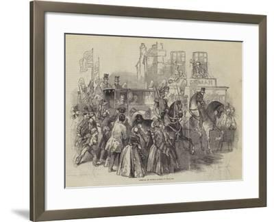 Arrival of Prince Albert in England--Framed Giclee Print