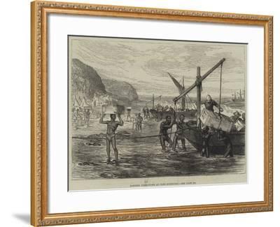 Landing Operations at Port Durnford--Framed Giclee Print