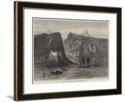 St Helena, with Troop-Ships at Anchor--Framed Giclee Print