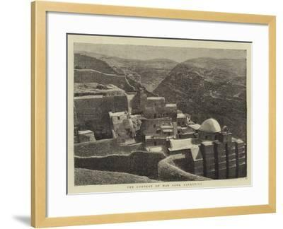 The Convent of Mar Saba, Palestine--Framed Giclee Print