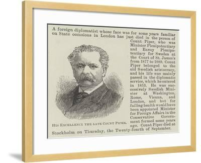 His Excellency the Late Count Piper--Framed Giclee Print