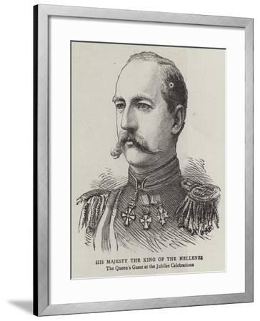 His Majesty the King of the Hellenes--Framed Giclee Print