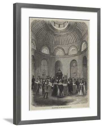 The Rotunda, at the Bank of England--Framed Giclee Print