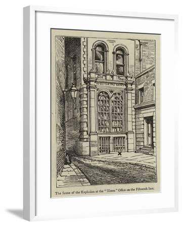 The Dynamite Outrage in Westminster--Framed Giclee Print