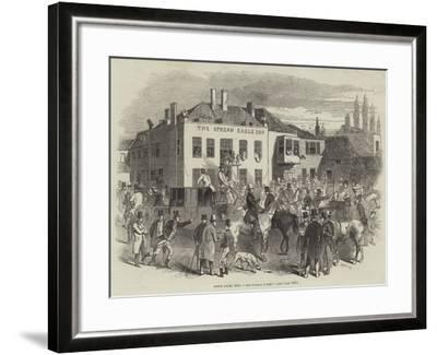 Epsom Races, 1846, The Spread Eagle--Framed Giclee Print