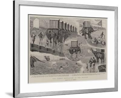 The Latest Innovation at the Seaside--Framed Giclee Print