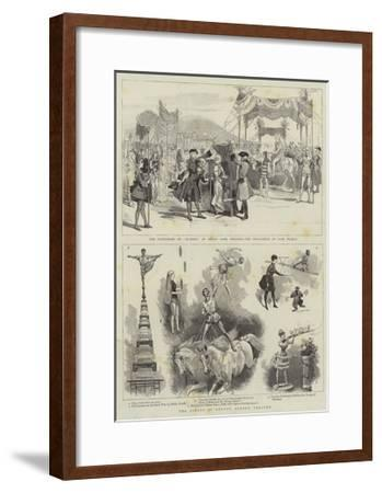 The Circus at Covent Garden Theatre--Framed Giclee Print