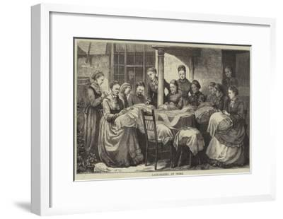 The Manufacture of Honiton Lace--Framed Giclee Print