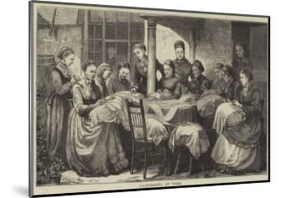 The Manufacture of Honiton Lace--Mounted Giclee Print