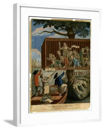 The Bostonians in Distress, 1774--Framed Giclee Print