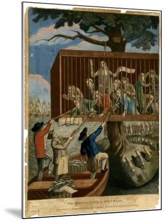 The Bostonians in Distress, 1774--Mounted Giclee Print