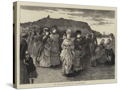 On the Promenade at Scarborough--Stretched Canvas Print