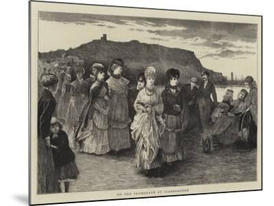 On the Promenade at Scarborough--Mounted Giclee Print