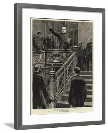 The Death of the German Emperor--Framed Giclee Print
