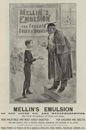 Advertisement, Mellin's Emulsion--Stretched Canvas Print