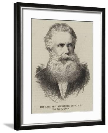 The Late Reverend Alexander Duff--Framed Giclee Print