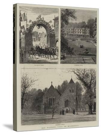 Her Majesty's Visit to Hughenden--Stretched Canvas Print