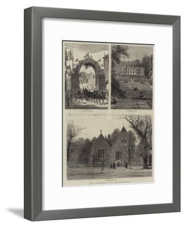 Her Majesty's Visit to Hughenden--Framed Giclee Print